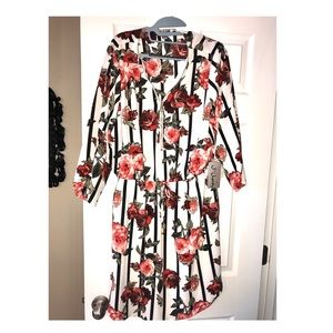 Beautiful floral and striped dress. NWT 1X